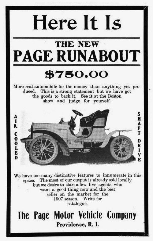 1907 The Page Motor Vehicle Company