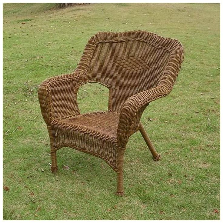 International Caravan Madison Wicker Resin Patio Chair, Black 3180-1CH