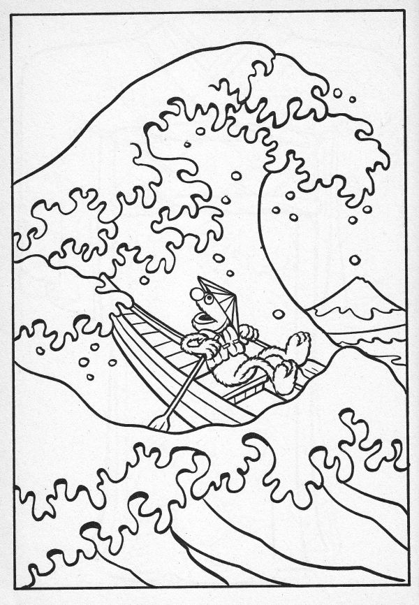 1000 images about can you tell me how to get to sesame for Waves coloring page
