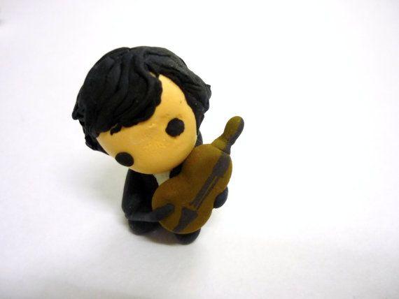 BBC Sherlock Holmes TV Drama Series Chibi Figurine Sculpture Sherlock with Violin Benedict Cumberbatch