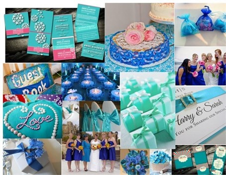 Teal & Blue Wedding Colour Combo featured on hitched.co.uk