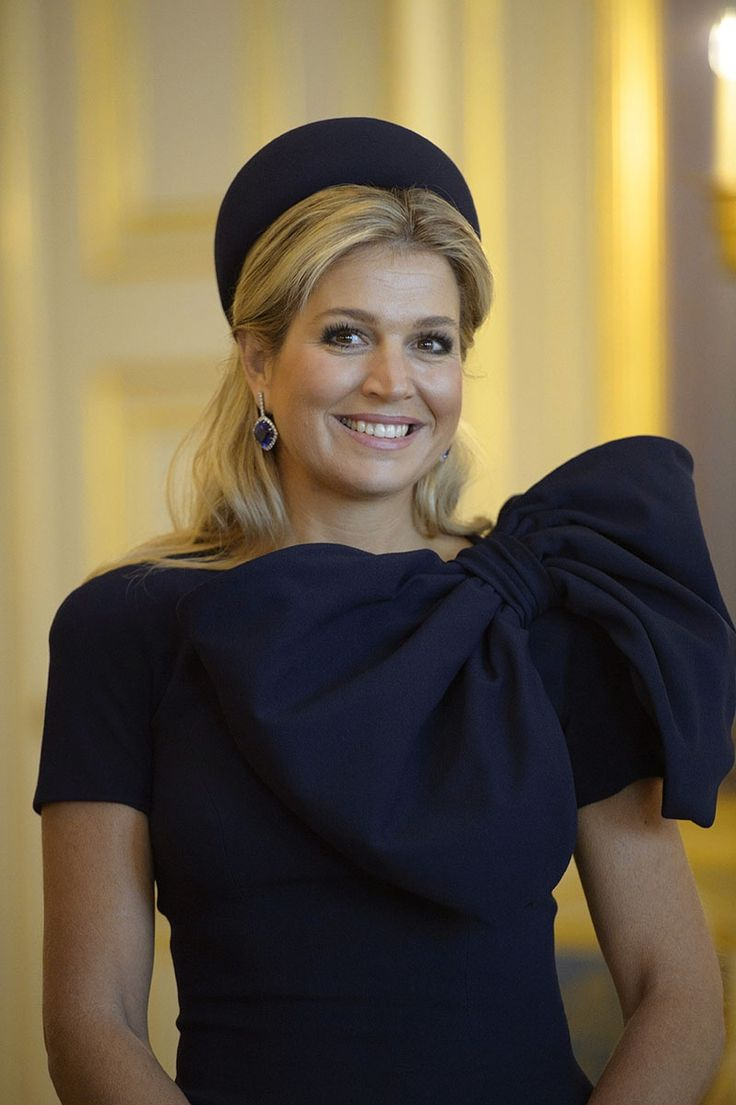 Reina Máxima de Holanda con PillBox negro en ceremonia oficial Photo (Foto: Photonews via Getty Images)