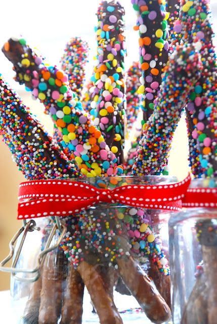 chocolate covered pretzel rods!