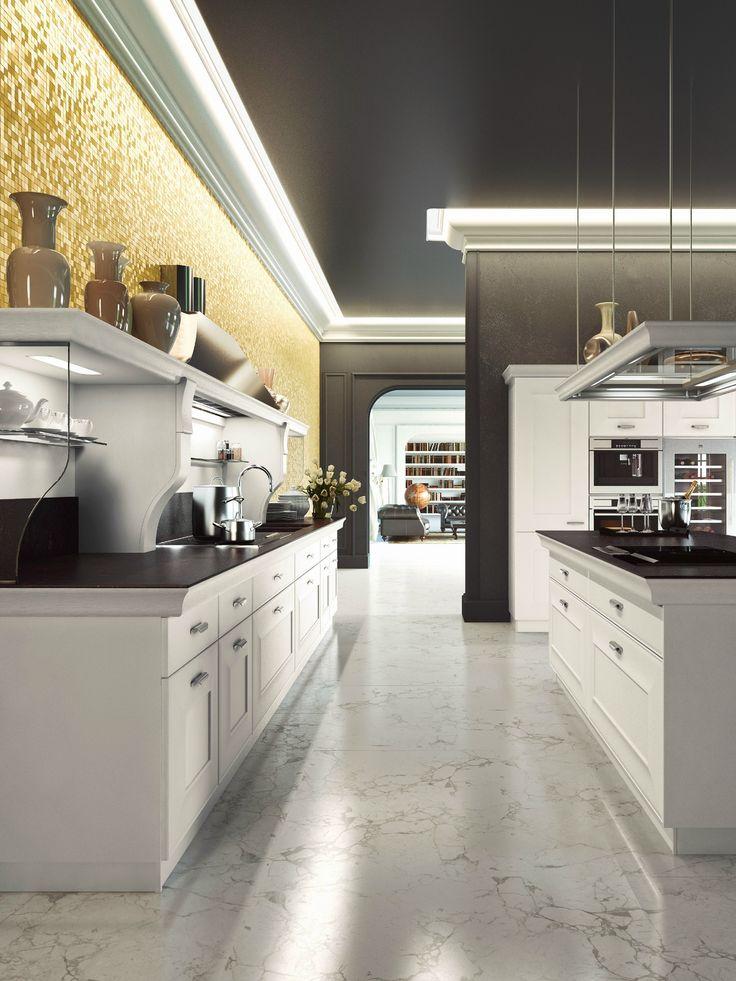 Fitted kitchen with island GIOCONDA DESIGN by Snaidero design Massimo Iosa Ghini