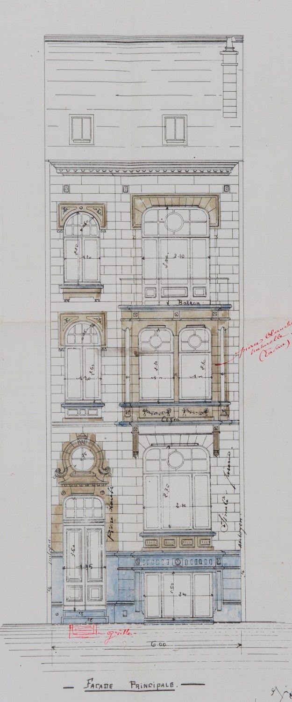 Schaerbeek - Rue Frédéric Pelletier 71, 73, 75, 77 - PIRART Jean