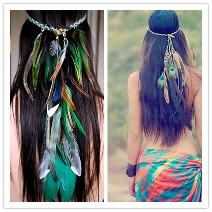 Cheap Pájaro venda de la pluma Native American Indian Hippie diadema de pelo de la joyería, Compro Calidad Joyas para Cabello directamente de los surtidores de China:    Ave del paraíso venda de la pluma           Tamaño: estiramiento                 Paquete incluyendo:           1 unid