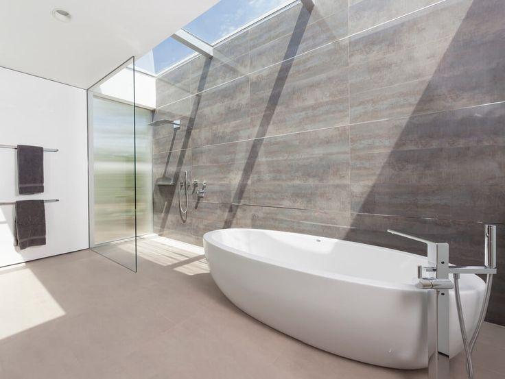Beautiful bathtub modern design style clean sleek white shower bathroom contemporary home glass ideas inspiration