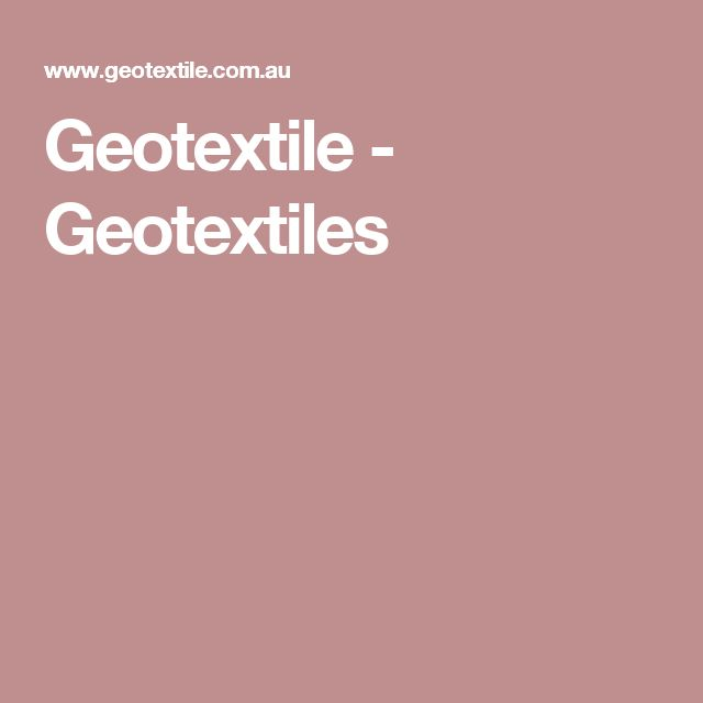 Geotextile - Geotextiles