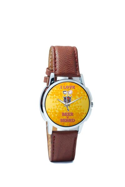 Wrist Watches India | I Love Beer and Beard Wrist Watch Online India.