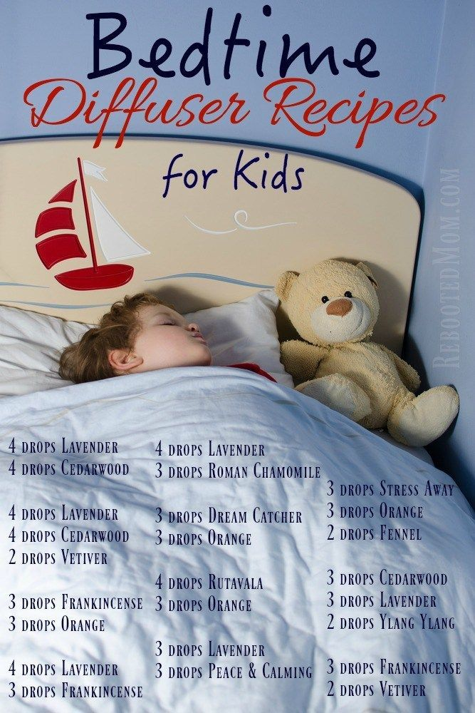 Do you have kids? These Bedtime Diffuser Recipes will help them go to sleep AND stay sleeping!: