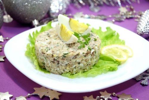 Рыбный салат Северное сияние