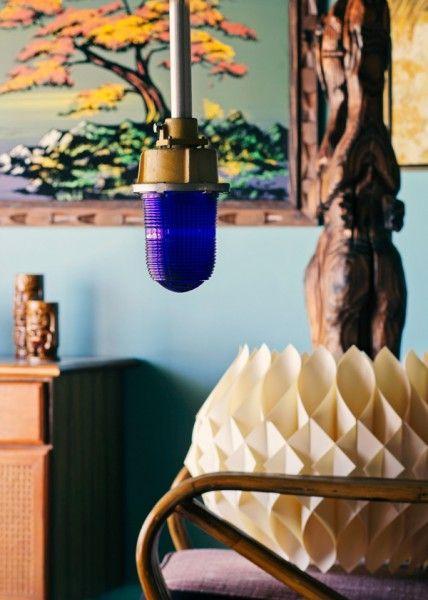 Blue Vintage Barn Lights