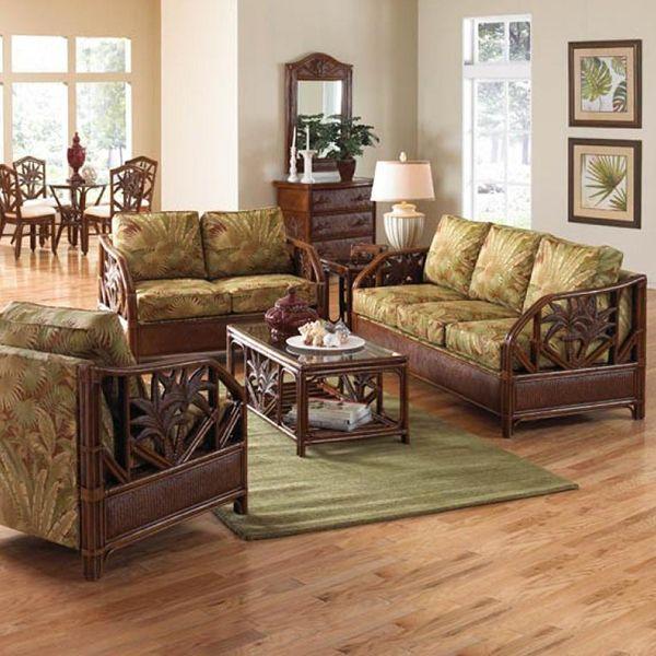 67 best Beautiful Indoor Wicker and Rattan Living Room Furniture ...