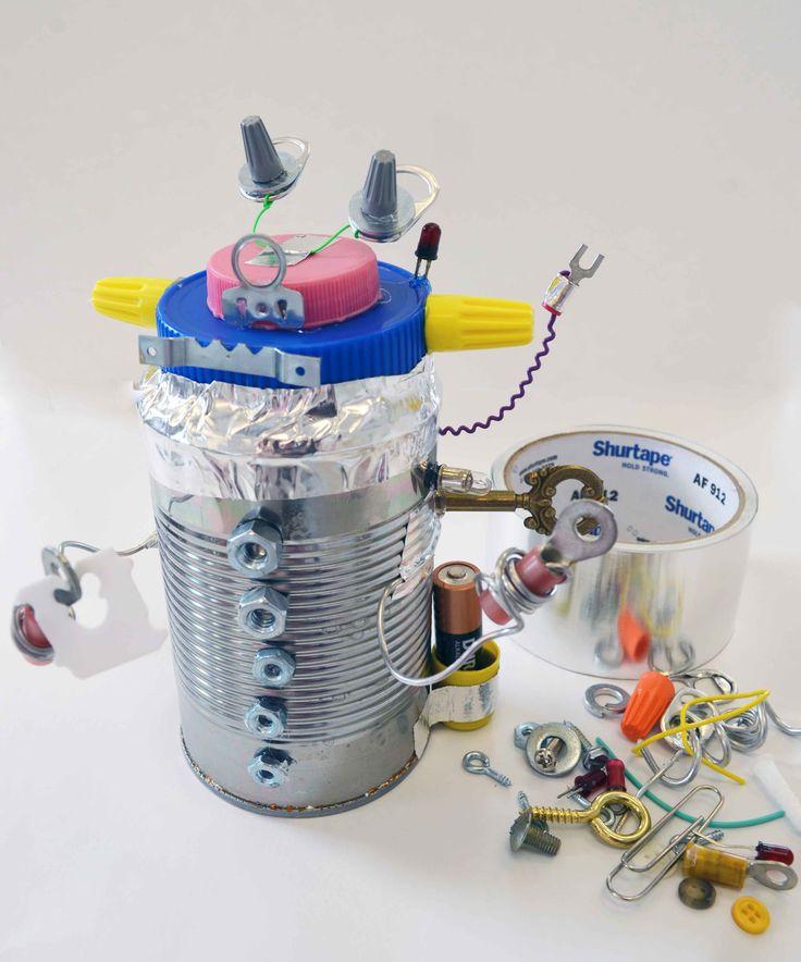 Tin Can Bot Recycle Robot Craft Tin Can Robots Tin