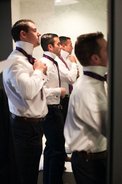 Groom and groomsmen getting ready - Boston Wedding at State Room from TRUE Event + Bruce Plotkin Photography