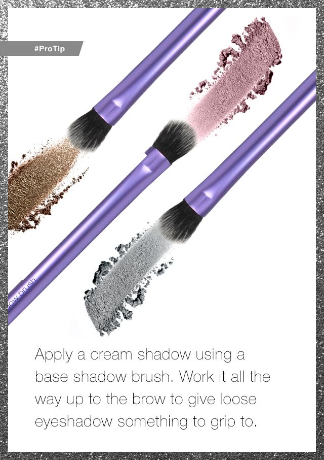 Do you blame your eyeshadow for not gripping to your lid? You might just be applying it wrong. #ProTip