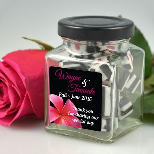Personalised Square Lolly Jars with Labels