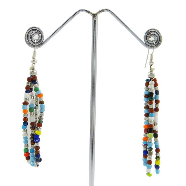 This is beautiful silvertone acrylic beaded Chandelier earring set which will add more charms to your jewelry collection. ..this is img