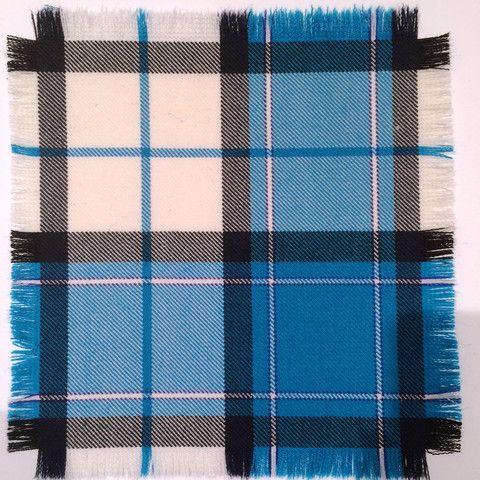 Turquoise Longniddry - 100% Wool Tartan Fabric – Highland In Style