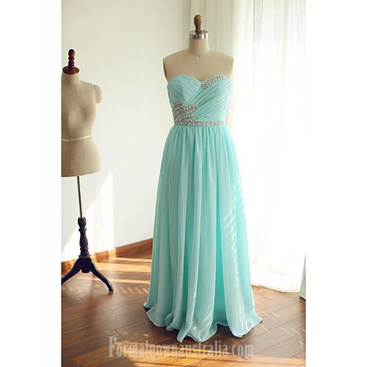 Australia Formal Evening Dress Lime Green Ball Gown Sweetheart Long Floor-length Chiffon Formal Dress Australia #formaldresses #greenformaldresses #greendresses