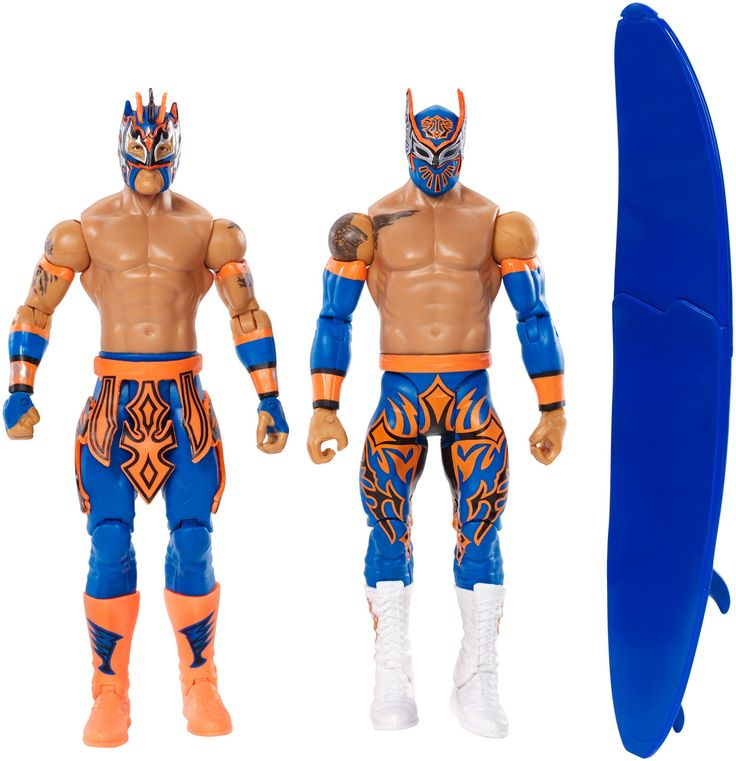 WWE Sin Cara and Kalisto Figure (2 Pack). Dynamic personality pack celebrates key rivalries, Champions, Divas, tag teams and siblings. Includes iconic accessories like chairs, microphones, trashcans, stretchers, crutches or Championships. Celebrates key Champions, Divas, tag teams and siblings. Get the entire collection and host your own high thrills WWE action battles! Each sold separately, subject to availability. Each sold separately, subject to availability.