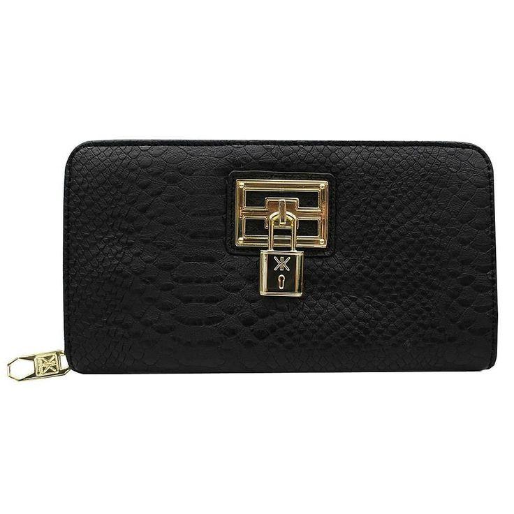 Kardashian Kollection Black Lock Wallet #KardashianKollection #ZipAround