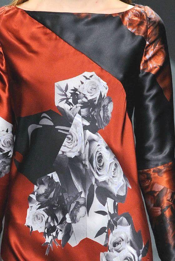 STAMPE, PATTERNS, LAVORAZIONI ED EFFETTI DI SUPERFICIE DALLA SETTIMANA DELLA MODA DI MILANO (COLLEZIONI DONNA A/I 14/15) / 4 Dalle sfilate moda donna di Milano, bellissimi dettagli e ispirazioni. Krizia