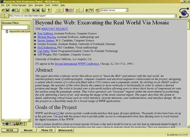 Happy birthday: #Mosaic ist 20! Am 21. April 1993 wurde der erste Internetbrowser, der ausser Text auch Grafiken auf einer Seite anzeigte, ohne dass man diese extra laden musste, freigegeben. Mit ihm wurde der Internet-Zugriff populaer und das Internet bunt: http://1997.webhistory.org/www.lists/www-talk.1993q2/0128.html #NCSA #WWW #Internet #Web