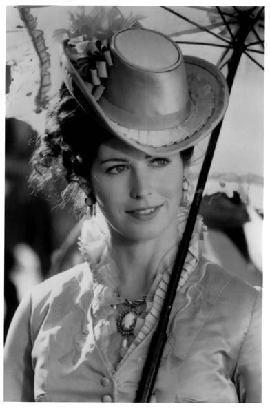 Dana Delany (Hollywood) in Tombstone movie.....She does has a look to the photos seen of the wild lady who caught the Wyatt Earp for herself.
