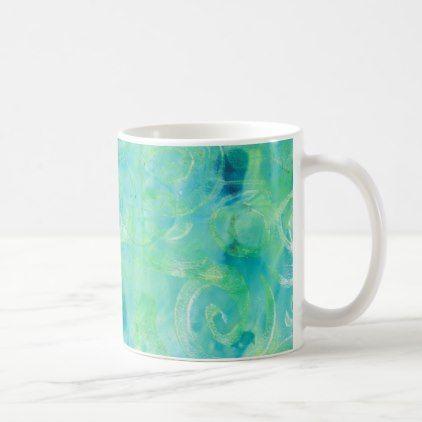 Monoprint Abstract 170267 Coffee Mug - holidays diy custom design cyo holiday family