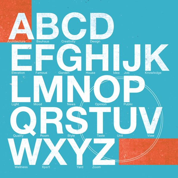 Typography for Dizbook by Peter Gashicky, via Behance