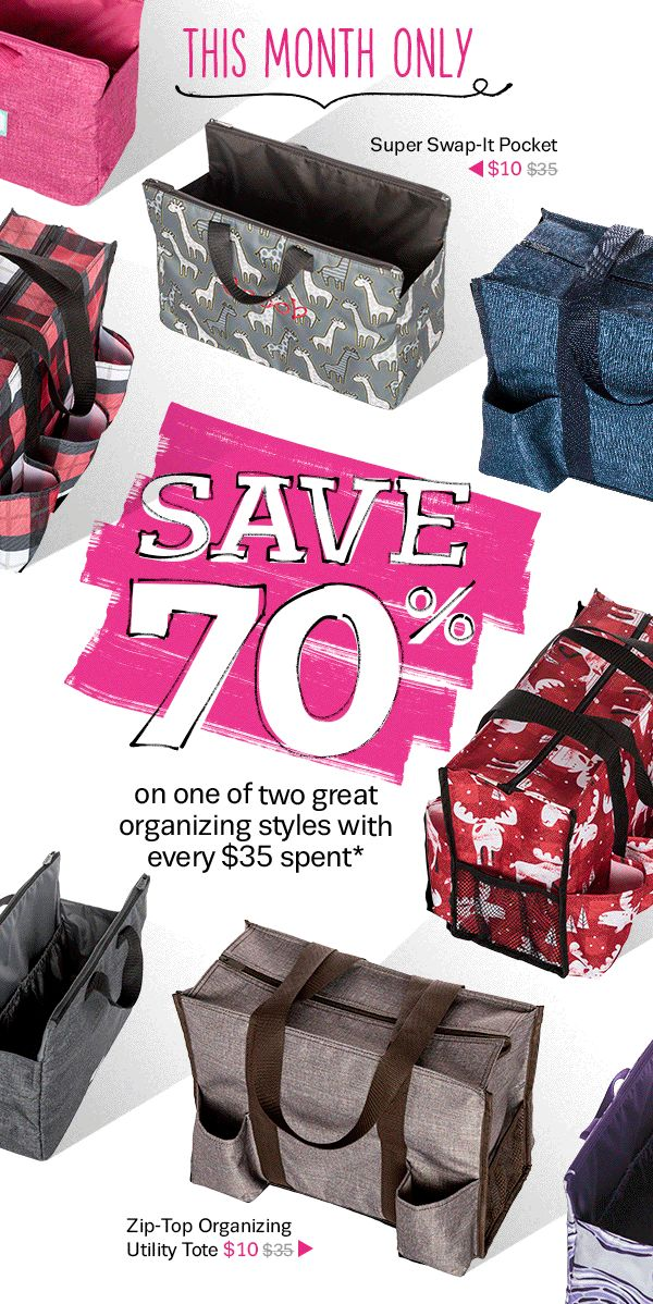 2017 September Thirty-One Gifts Customer Special… SAVE 70% on one of two great organizing styles with every $35 you spend at MyThirtyOne.com