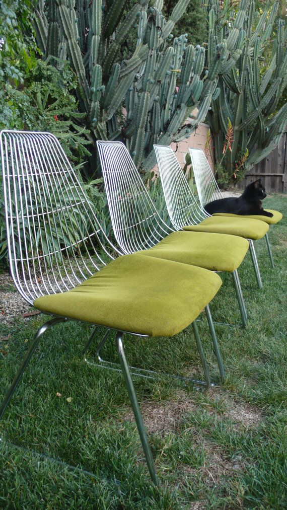 Mid Century Modern Chrome Chairs by HausProud on Etsy, $595.00