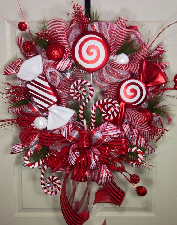 Candy Crazy Mesh Wreath on Etsy, $125.00