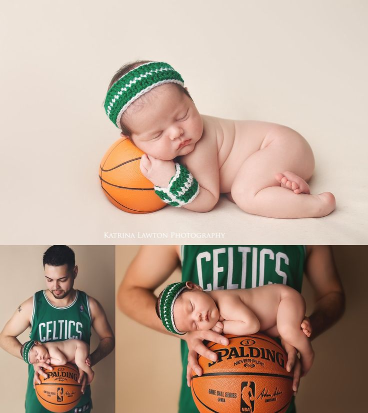 Massachusetts Newborn Boston Celtics Theme, Basketball, Newborn Photography  ©Katrina Lawton Photography