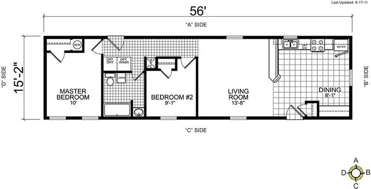 lovely single wide mobile home floor plans 2 bedroom