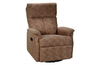 Miami recliner brown fabric footrest www.helsetmobler.no