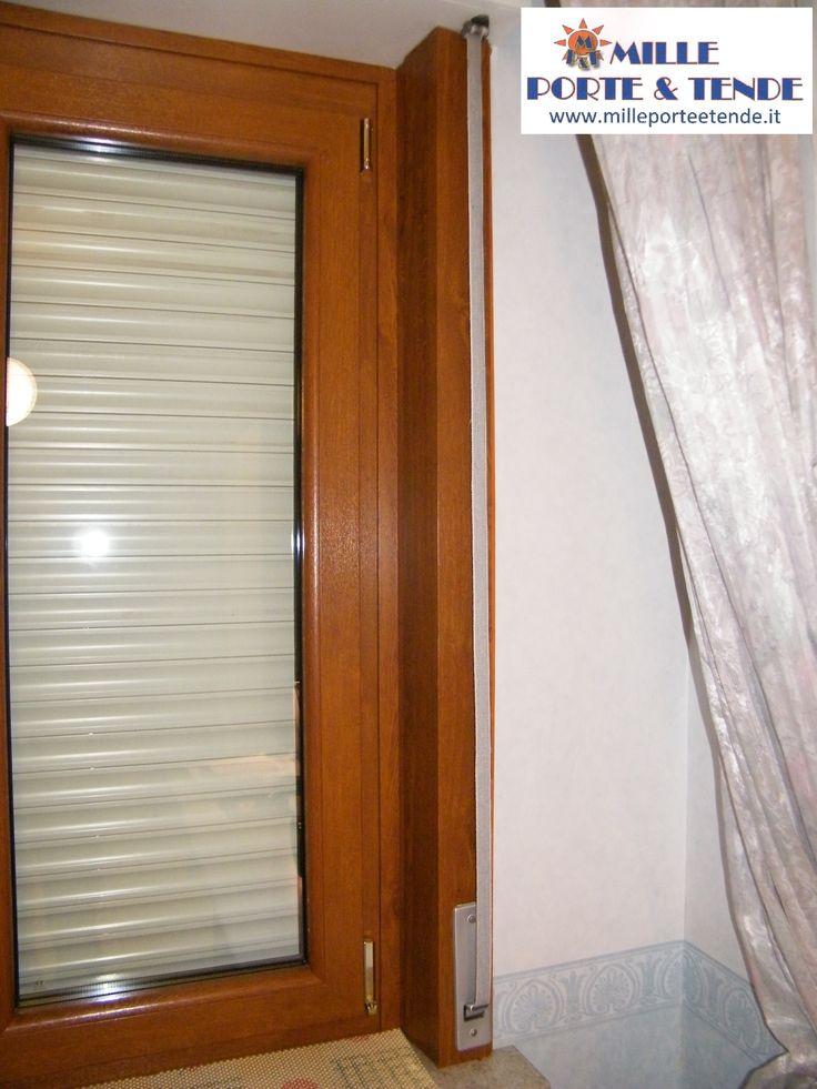Le nostre meravigliose finestre in pvc invi finitura golden oak presso mille porte tende - Tende finestre pvc ...