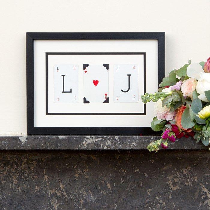 Personalised Initial Love Vintage Letter Frame Gettingpersonal Co Uk