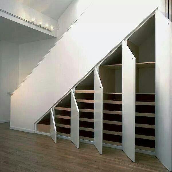 Huecos de escaleras bien aprovechados