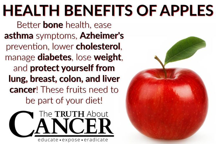 Mmmm! Delicious apples! Health Benefits include better bone health, ease asthma symptoms, Alzheimer's prevention, lower cholesterol, manage diabetes, lose weight, and protect yourself from lung, breast, colon, and liver cancer! These fruits need to be part of your diet! Please re-pin to help us educate others! // The Truth About Cancer