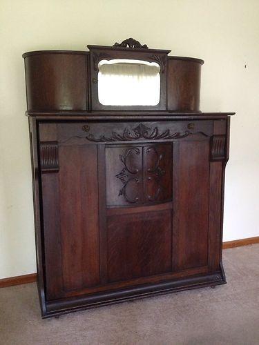 Antique Oak Murphy Bed   eBay