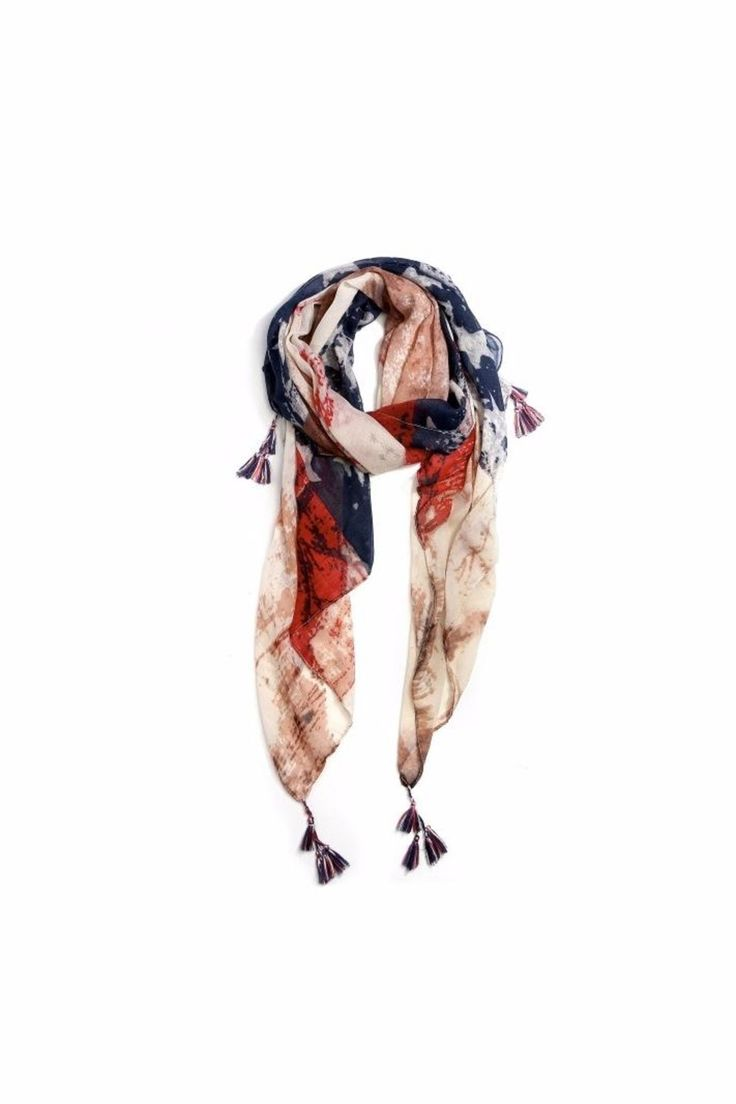 Love of Fashion American Flag Scarf - Main Image