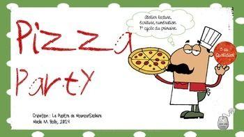 Activité intégrant les mathématiques et la lecture où l'élève doit suivre une recette pour créer une pizza en respectant les quantités. Matériel très bien illustré.  Trois recettes incluses.  Nécessite d'imprimer, plastifier, découper.  Après le téléchargement de ce document numérique, j'apprécierais vos commentaires et une note reliée à ma création.