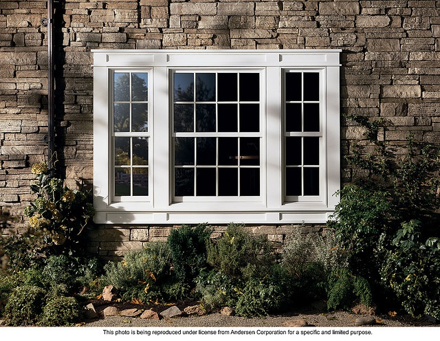 Andersen 400 series energy efficient woodwright double for Energy efficient bay windows