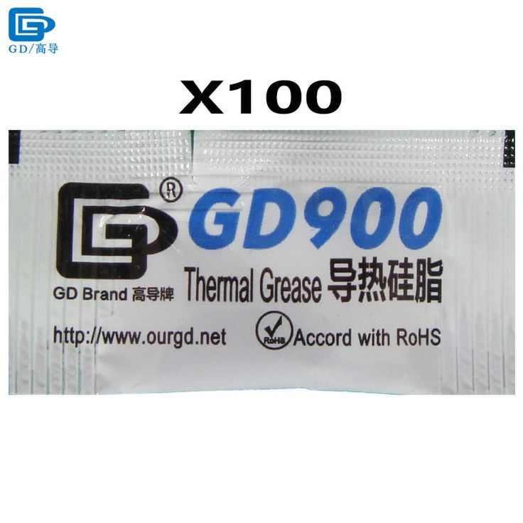 GD Brand Heat Sink Compound GD900 Thermal Grease Paste Silicone Plaster 100 Pieces Net Weight 0.5 Gram High Performance MB05