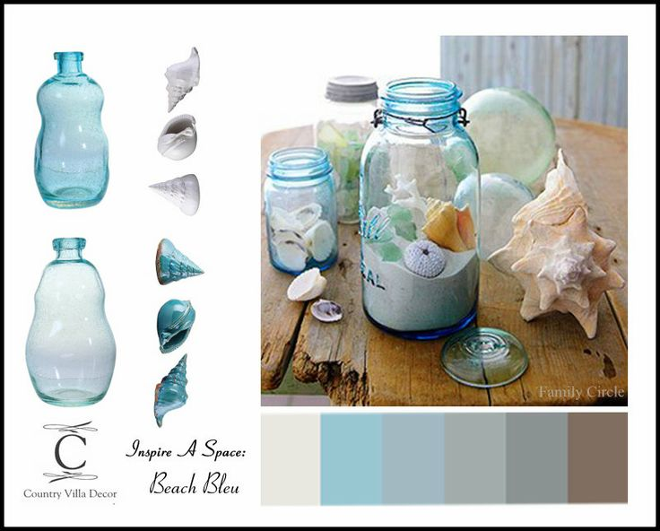 One way to quickly bring soothing ocean blues into your - Beach theme decor for living room ...