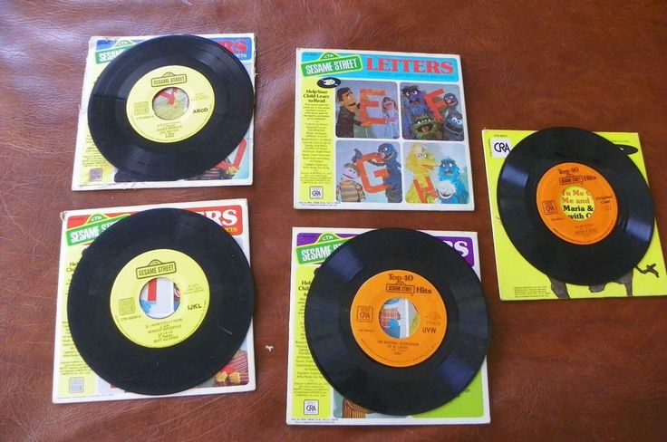 Lot Sesame Street Records - Letters ABCD IJKL UVW and Top 40 Hits Muppets 1970's #Educational