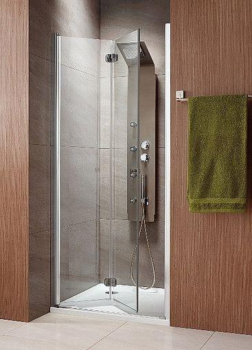 Eos DWB Radaway drzwi wnękowe jednoczęściowe typu Bifold 690-710x1970 chrom intimato lewe - 37883-01-12NL  http://www.hansloren.pl/Kabiny-prysznicowe/Drzwi-szklane-do-wneki/RADAWAY