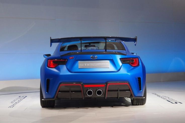 2016 Subaru Brz Sti Rear View